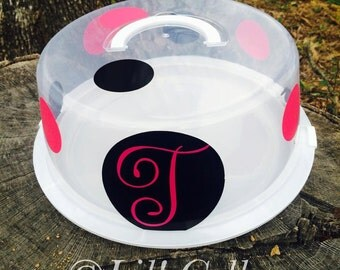 Personalized cake container with lid,custom gifts,made to order,gifts for mom,personalized gifts,wedding shower gift,holiday gifts,reusable