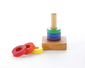 Wooden Ring Stacking Toy