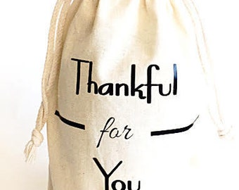 Wine gift bag- Gift bags- Thankful for you wine Bag- Thank you gift- Hostess gift- Host gift