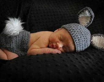 Crochet Bunny Newborn Set.