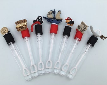 Pirate Favors: Pirate Bubble Wand Favors, Pirate Party Favors