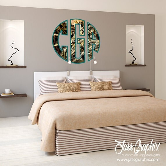 Camouflage wall decals and camo window stickers monogrammed for Camouflage wall mural