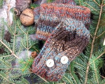 Falling Leaves multicolored handknit headband