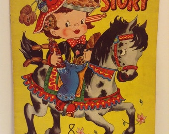 1950 Merrill Picture Book 8 Little Stories Illustrated by Vivian Robbins
