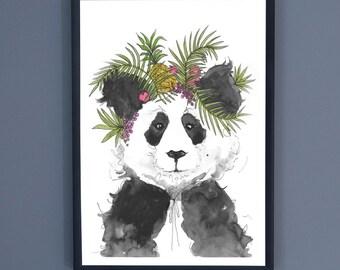 Party Panda Print - A4