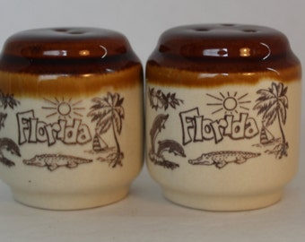 Vintage Florida Souvenir Salt and Pepper Shakers