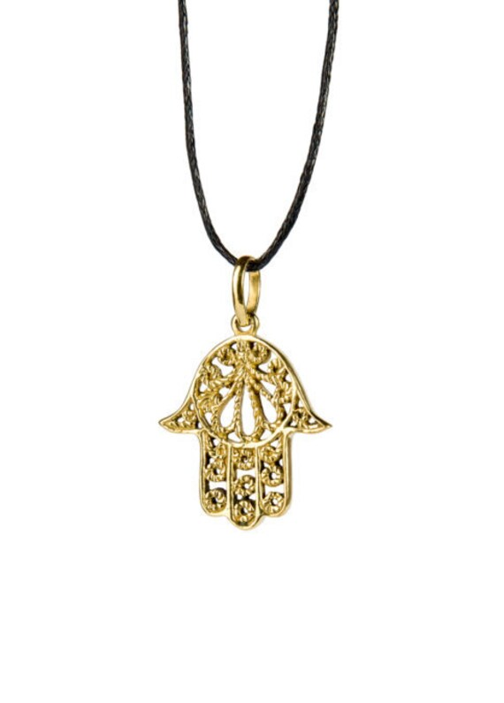 Hamsa Hand Pendant On Cord Adjustable Necklace Spiritual jewellery Evil Eye Jewelry  Handmade Free UK delivery