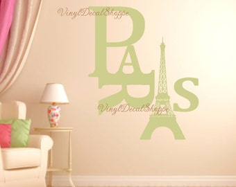 Paris Wall Decal, Paris France, French Decor, Eiffel Tower, Wall Decal, Paris Wall Sticker, Paris Decal, French Decal, Eiffel Tower Decal