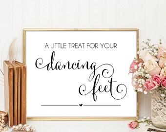 Flip Flop Sign, Wedding Flip Flop Sign, Dancing Feet, Weddings, Wedding Printable, Printable Wedding Decoration, Cantoni, WBWD4
