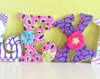 Custom Nursery Letters, Hanging letters, Wooden letters, Personalized Name,  Baby Girl or Boy Letters, Matching, Kids Room, Unique Gift,