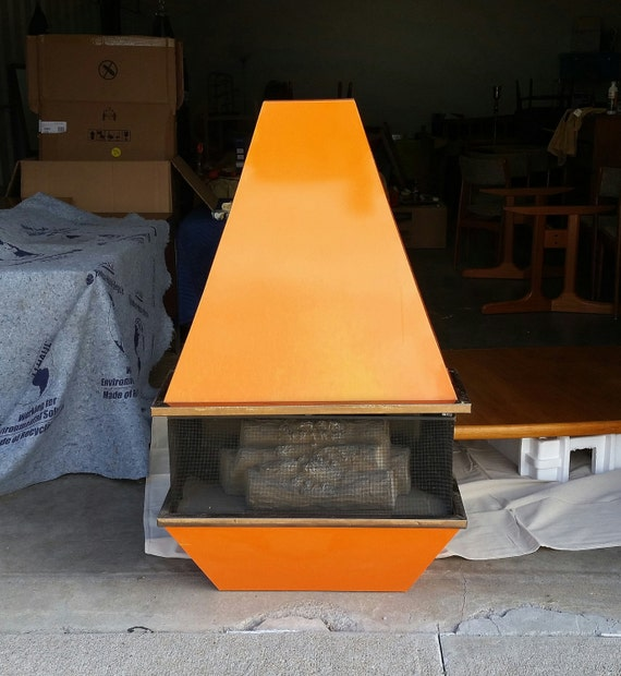 Vintage 1970 S Electric Fireplace Space Age Mid Century