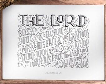 Numbers 6:24-26 Print