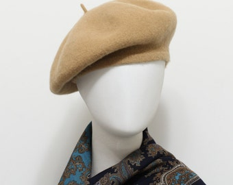 Iced Coffee Wool Felt Soft Warm Classic French Style Beret hats