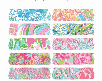 Washi Tape Lilly Inspired Digital Washi Tape - Instant Download Clip Art
