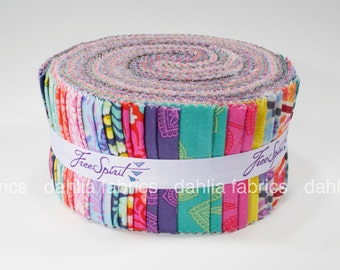 """SALE! Eden Jelly Roll by Tula Pink for FreeSpirit Fabrics - 40 Pcs 2 1/2"""" Strips"""