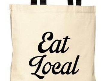 Eat Local - Farmers Market Tote