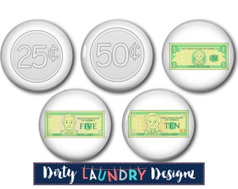 Kids Chore Chart Magnets / Reward Magnets / US CURRENCY MONEY