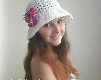 Valerie's Summer Sun Hat *PDF DOWNLOAD ONLY* Instant Download