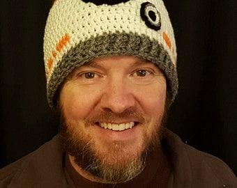 Crochet Star Wars inspired BB-8 Beanie
