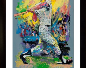 70% SALE- Mickey Mantle Fine-Art LIMITED Edition Paper Print From an Original Hand-Painted (Not DIGITAL/Computer) Artwork By Winford