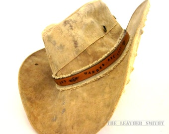 Custom Leather Hat Band, Personalized Hat Band, Leather Hat Bands, Hat Accessories, Cowboy Hat Band