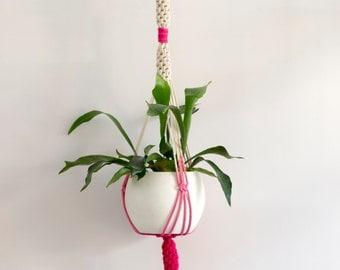 Macrame Plant Hanger / Dyed Plant Hanger / Plant Holder / Hanging Planter / Home Decor / Macrame Plant Holder / pot hanger / garden decor