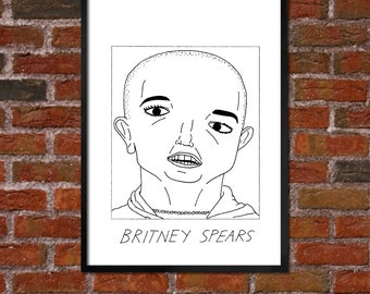 Badly Drawn 2007 Britney Spears  Poster