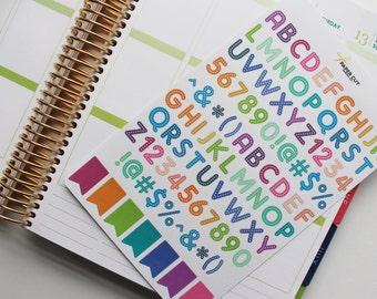 PLANNER STICKERS - ABC Alphabet Stickers