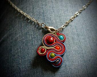 Summer Soutache Necklace