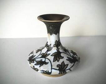 Vintage Cloisonne Vase - Asian Floral Vase - Asian Home Decor - Chinese Enamel Vase - Boho Decor - Porcelain Vase - Asian Flower Vase