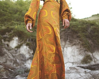 kyramade long warm woman gown
