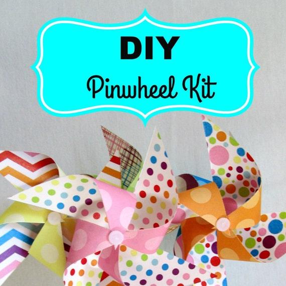 Paper Pinwheels DIY Kit Pinwheel Paper by ReadySetCraftKits