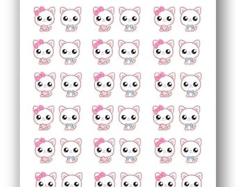 Kawaii Kitty Stickers