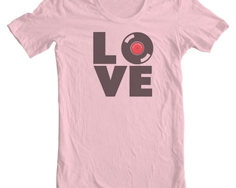 Love Vinyl All you need is Love & Vinyl  (tee) Vinyl Record Love is all you need.  Vintage vinyls Love Quotes