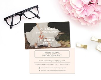 SALE! Photography Business Card Template / Photographers and Boutique Business / Modern Wedding Photo Photoshop Marketing Design
