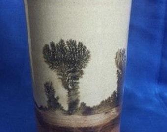 Studio Pottery Vase , Paint Brush Pot , by Carenza Hayhoe.