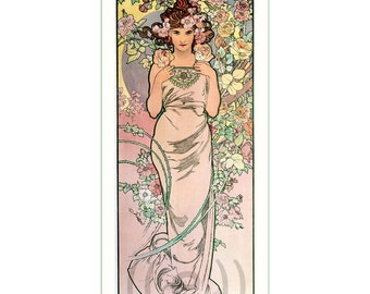 fabric panel - painting by Alphonse Mucha (4)