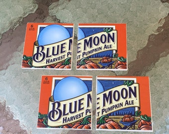 Blue Moon Harvest Pumpkin Ale Coasters Set of 4