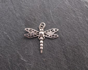Dragonfly Pendant -  Sterling Silver, Charm