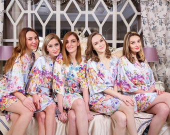 I03308 Cheap bridal party gifts not bride and bridesmaid silk robes bridesmaid robes for cheap bridal shower ideas shower robe wedding robes