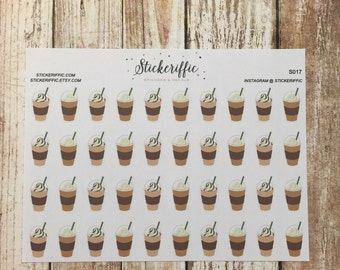 S017  Frappuccino / Iced Coffee Stickers