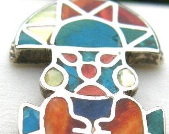 Tumi spiritual pendant necklace medicine man healer gift peruvian jewelry ethnic tribal gypsie inca pendant inti sun sacred shaman amulet