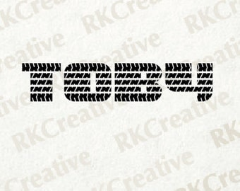 Custom Words in Tire Tread Lettering - tire tread decal - Vinyl Decal - wall decal