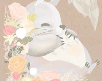 Totoro Art Print 11x17