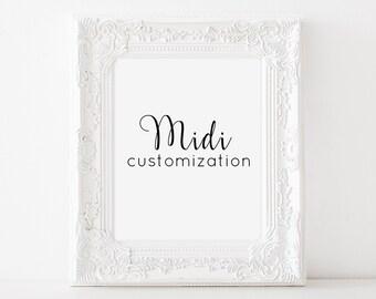 Customize it! - MIDI (5 dollars extra)