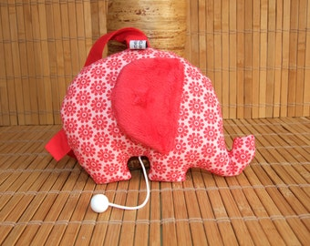 "Musical Lullaby elephant song ""The waltz of Amélie Poulain"" shaped"
