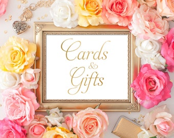 Wedding Gifts & Cards Sign 8x10 5x7 Gold Foil Calligraphy Sign DIY Wedding Ceremony Sign Printable Image Digital INSTANT DOWNLOAD 300dpi