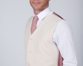 Dusky Pink Wedding / Prom Waistcoat available with Matching Items by Matchimony