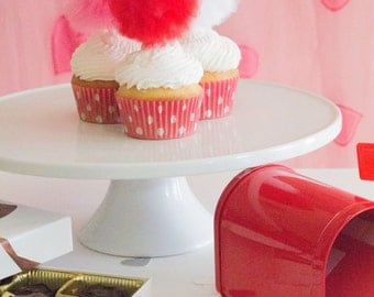 Valentine, Valentine's Day, Valentines Day decor, valentine decor, Valentine's Day decorations, pompom, cupcake toppers, cake topper