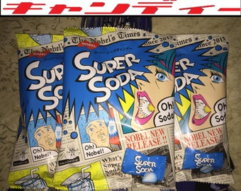 3 BAGS of Super Soda Japanese Candy